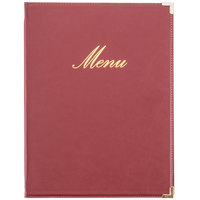 American Metalcraft MCCRLSWR Securit Classic Menu Holder - Wine Red