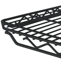 Metro 1448Q-DBM qwikSLOT Black Matte Wire Shelf - 14 inch x 48 inch