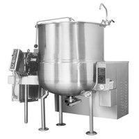 Cleveland HA-MKGL-80 Natural Gas 80 Gallon Stationary 2/3 Steam Jacketed Horizontal Mixer Kettle - 190,000 BTU