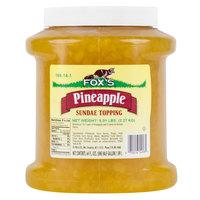 Fox's 1/2 Gallon Pineapple Ice Cream Sundae Topping - 6/Case