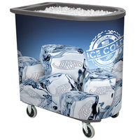 IRP Gray Server Elite Deepcore 5073 Portable Insulated Ice Bin / Beverage Cooler / Merchandiser with Cash Drawer and Tray 100 Qt.