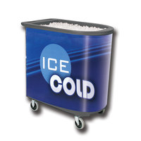 Gray Server Elite Deepcore 5073 Portable Insulated Ice Bin / Beverage Cooler / Merchandiser with Cash Drawer and Tray 100 Qt.
