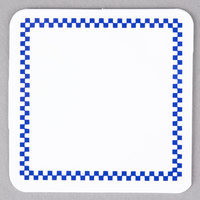 Square Write On Deli Tag with Blue Checkered Border