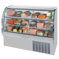 Beverage-Air CDR5/1-S-20 Stainless Steel Exterior Curved Glass Refrigerated Bakery Display Case 61 inch - 22.9 Cu. Ft.