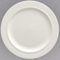 Homer Laughlin HL6081000 9 3/4 inch Ivory (American White) China Plate - 24/Case
