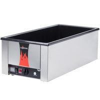 Vollrath 72050 Cayenne 28 3/4 inch x 13 3/4 inch Heat 'n Serve 4/3 Size  Countertop Food Warmer - 120V, 1600W