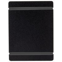Cal-Mil 2034-57-13 5 inch x 7 inch Black Menu Board with Flex Bands