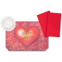 Hoffmaster 856764 10 inch x 14 inch Valentine's Day Placemat Combo Pack   - 200/Case