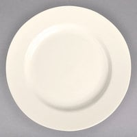 Homer Laughlin 20000 5 3/8 inch Ivory (American White) Rolled Edge China Plate - 36/Case