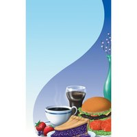 8 1/2 inch x 11 inch Menu Paper - Coffee Shop Themed Table Setting Design Cover - 100/Pack