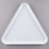 Fineline 3561-WH Platter Pleasers 16 inch White Plastic Triangular Tray - 20/Case