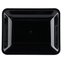 Fineline 3580-BK Platter Pleasers 10 inch x 8 inch Black Plastic Rectangular Tray - 25/Case