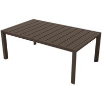 Grosfillex US004599 Sunset 24 inch x 40 inch Fusion Bronze Aluminum Cocktail Table