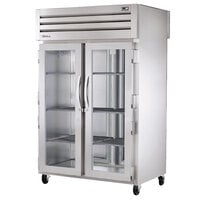 True STR2RPT-2G-2S-HC Specification Series 52 5/8 inch Glass Front, Solid Back Door Pass-Through Refrigerator