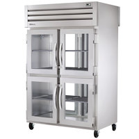 True STR2RPT-4HG-2G-HC Specification Series 52 5/8 inch Half Glass Front, Glass Back Door Pass-Through Refrigerator