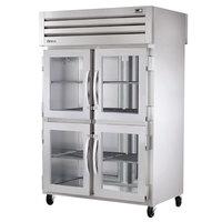 True STR2RPT-4HG-2S-HC Specification Series 52 5/8 inch Half Glass Front, Solid Back Door Pass-Through Refrigerator