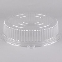 Fineline 9401L-CL Platter Pleasers 14 inch Clear Plastic Round Tray Dome Lid - 25/Case