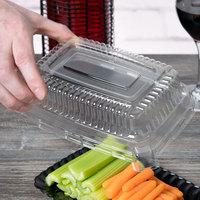 Fineline 9257L-CL Flairware Clear PET Plastic Snack Tray Dome Lid - 48/Case