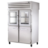 True STR2RPT-2HG/2HS-2S-HC Specification Series 52 5/8 inch Half Glass and Solid Front, Solid Back Door Pass-Through Refrigerator