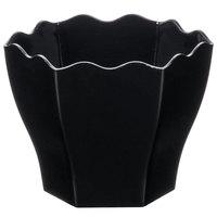 Fineline 6304-BK Tiny Temptations 1.75 oz. Black Plastic Tiny Hexagon Cube Bowl   - 200/Case