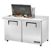 True TSSU-48-12M-B-ADA-HC 48 inch 2 Door Mega Top ADA Height Refrigerated Sandwich Prep Table