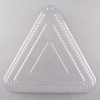 Fineline 9561L-CL Platter Pleasers 16 inch Clear Plastic Triangular Tray Dome Lid - 40/Case