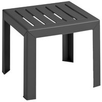 Grosfillex CT052002 Bahia 16 inch Square Charcoal Resin Low Table