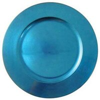 Tabletop Classics TRBL-6651 13 inch Blue Round Acrylic Charger Plate
