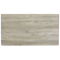 Grosfillex US72VG71 VanGuard 30 inch x 72 inch White Oak Resin Indoor Table Top