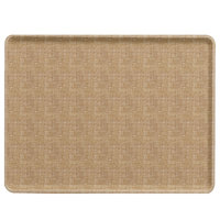 Cambro 1418D329 14 inch x 18 inch Linen Toffee Dietary Tray - 12/Case