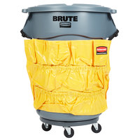 Rubbermaid BRUTE 44 Gallon Gray Trash Can, Lid, Caddy Bag, and Dolly Kit