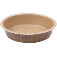 Solut 91088 10 oz. Corrugated Kraft Baking Cup with Flange - 500/Case