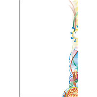 8 1/2 inch x 11 inch Menu Paper Right Insert - Pasta Themed Table Setting Design - 100/Pack