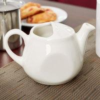 Tuxton BET-1001 DuraTux Healthcare 10 oz. Ivory (American White) China Tea Pot