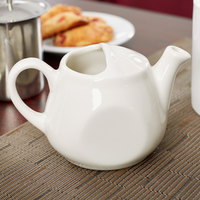 Tuxton BET-1001 DuraTux Healthcare 10 oz. Ivory (American White) China Tea Pot