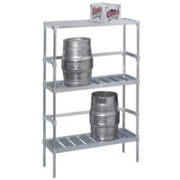 Channel KAR48 4 Keg Rack - 48 inch x 17 inch x 68 inch