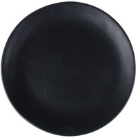 10 Strawberry Street RPPLE-BLKSLD Ripple 8 inch Black Salad Stoneware Plate - 24/Case