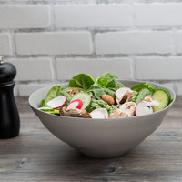 10 Strawberry Street RPPLE-GREYSRVBWL Matte Wave 80 oz. Gray Serving Stoneware Bowl - 4/Case