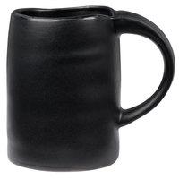 10 Strawberry Street RPPLE-BLKMUG Ripple 12 oz. Black Stoneware Mug - 24/Case