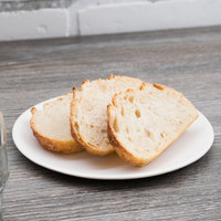 10 Strawberry Street RPPLE-WHTBB Matte Wave 6 1/4 inch White Bread and Butter Stoneware Plate - 36/Case