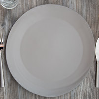 10 Strawberry Street RPPLE-GREYCHRGR Matte Wave 12 3/4 inch Gray Charger Stoneware Plate - 12/Case