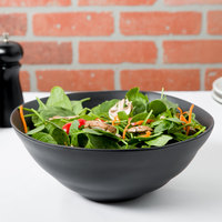 10 Strawberry Street RPPLE-BLKSRVBWL Matte Wave 80 oz. Black Serving Stoneware Bowl - 4/Case