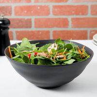 10 Strawberry Street RPPLE-BLKSRVBWL Matte Wave 80 oz. Black Serving Stoneware Bowl   - 4/Case