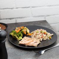 10 Strawberry Street RPPLE-BLKDIN Matte Wave 10 3/4 inch Black Dinner Stoneware Plate - 12/Case