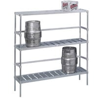Channel KAR80 8 Keg Rack - 80 inch x 17 inch x 68 inch
