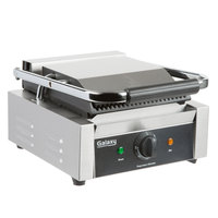 Galaxy P68 Single Panini Sandwich Grill with Grooved Plates - 8 1/2 inch x 8 1/2 inch Cooking Surface - 120V, 1750W