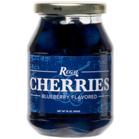 Regal 16 oz. Dark Blue Maraschino Cherries with Stems
