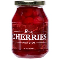 Regal 16 oz. Red Maraschino Cherries with Stems