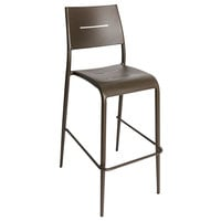 BFM Seating PH902BBZ Hampton Bronze Stackable Aluminum Bar Height Chair