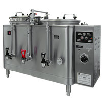 Grindmaster Cecilware 7446E Twin Midline 6 Gallon Heat Exchange Coffee Urn - 120/208/240V, 3 Phase, 11.5/12 kW
